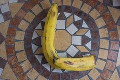 Beschriften Sie L, das mit Bananen gemacht wird, um einen Buchstaben des Alphabetes mit Früchten zu bilden Lizenzfreie Stockfotografie