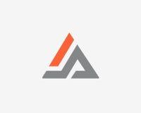 Beschriften Sie a-Logoalphabet-Ikonensatz Stockfotografie