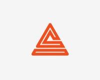 Beschriften Sie a-Logoalphabet-Ikonensatz Stockfoto