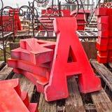 Beschriften Sie Tin Letters Lizenzfreies Stockbild