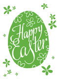 Beschriften von fröhlichen Ostern ei Auch im corel abgehobenen Betrag Lizenzfreies Stockfoto