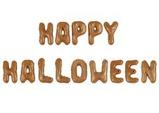 Beschriften von glücklichem Halloween Lizenzfreie Stockfotos