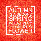 Beschriften von Saison-Autumn Banner Postcard Lizenzfreie Stockfotografie