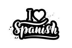 Beschriftend liebe ich spanisches stock abbildung