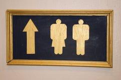 Beschriftet Badezimmer Lizenzfreie Stockbilder