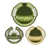 Beschriftet natürliches organisches Getreide Lizenzfreie Stockbilder