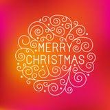 Beschriftung der frohen Weihnachten des Vektors Hand Lizenzfreie Stockbilder