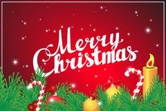 Beschriftung der frohen Weihnachten Hand Stockfotografie