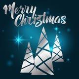 Beschriftung der frohen Weihnachten Hand geschriebene frohe Weihnachten modern Stockfoto