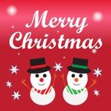 Beschriftung der frohen Weihnachten, Weihnachtsgruß-Karte vektor abbildung