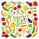 Beschriftung des biologischen Lebensmittels Lizenzfreies Stockfoto