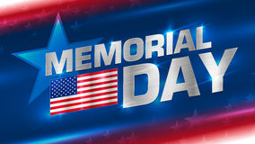 Beschriftung Memorial Day auf dem Hintergrund Lizenzfreies Stockfoto
