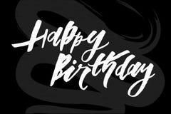 Beschriftung mit Phrase alles Gute zum Geburtstag Auch im corel abgehobenen Betrag tafel Lizenzfreie Stockfotografie