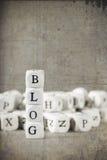 Beschriftungs-Blog Stockfotografie