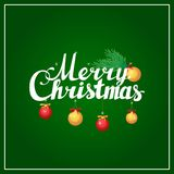 Beschriftungs-Kalligraphiepostkarte der frohen Weihnachten Hand Stockbild