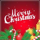 Beschriftungs-Quadratpostkarte der frohen Weihnachten Hand Lizenzfreie Stockfotos
