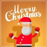 Beschriftungs-Quadratpostkarte der frohen Weihnachten Hand Lizenzfreie Stockfotografie
