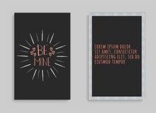 Beschriftungspostkarte mit einer Phrase ist meine Lizenzfreie Stockbilder
