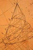 Beschrijvende meetkunde Stock Fotografie