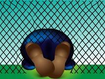 Beschuht Flüchtling, der durch kletterte Lizenzfreie Stockfotografie