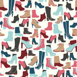 Beschuht nahtloses Muster - Illustration Lizenzfreie Stockfotografie