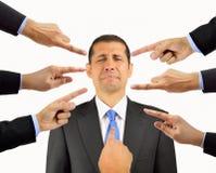 Beschuldigen Finger Lizenzfreies Stockfoto