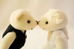 Bese a la novia Imágenes de archivo libres de regalías