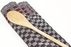 besegra den träskedhandduken Royaltyfri Bild