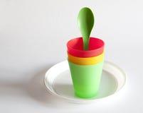 besegrar plast- royaltyfri fotografi