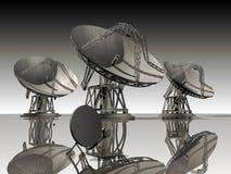 besegrar satelliten Arkivfoto