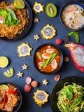 besegrar thai mat Fotografering för Bildbyråer