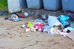 Beseitigung des Abfalls und des Mülleimers lizenzfreie stockfotos