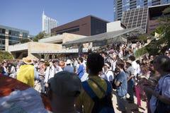 Besetzen Sie Austin - 15. Oktober-Demonstrationszug Stockbild