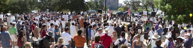 Besetzen Sie Austin - 15. Oktober-Demonstrationszug Lizenzfreie Stockfotografie