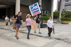 Besetzen Sie Honolulu/Anti-APEC Protest-17 Stockbild