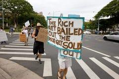 Besetzen Sie Honolulu/Anti-APEC Protest-44 lizenzfreie stockbilder