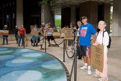Besetzen Sie Honolulu/Anti-APEC Protest-5 Stockbild