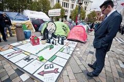 Besetzen Sie London-Protestierender Stockbild
