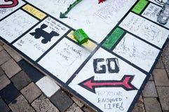Besetzen Sie London-Protestierender Stockfotos