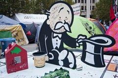 Besetzen Sie London-Protestierender Lizenzfreies Stockfoto
