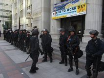 Besetzen Sie Oakland-Protest Stockfotografie