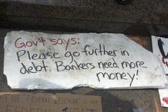 Besetzen Sie Wall Street. Stockfotos