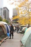 Besetzen Sie Wall Street in Montreal (Quebec Kanada) Stockfotos