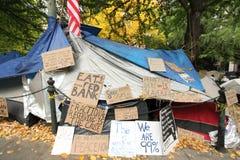 Besetzen Sie Wall Street in Portland Lizenzfreies Stockbild