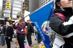 Besetzen Sie Wall Street am Zuccotti Park Stockfotos