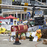 Besetzen Sie zentrale Bewegung, Hong Kong Lizenzfreies Stockfoto