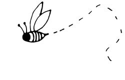Besetzte Biene vektor abbildung
