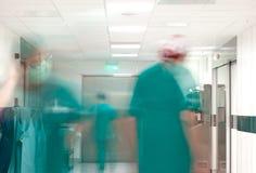 Besetzter Chirurgieflur des Krankenhauses Stockbilder