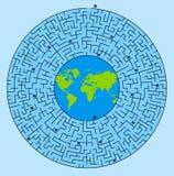 Besetzter Planet lizenzfreie abbildung