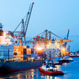 Besetzter Seehafen Stockfotografie